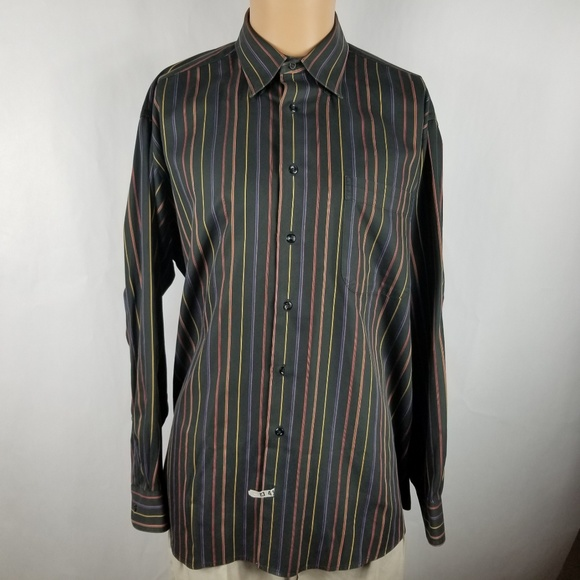 fabaa12d Gitman Brothers Shirts | Gitman Bros Men Dress Shirt Sz L Striped ...